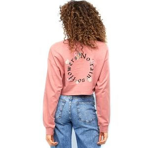 H&M Vintage Pink Short Sweatshirt